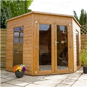 8ft x 8ft SOLIS CORNER SUMMERHOUSE (Solid OSB Floor)
