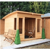 8ft x 8ft Deluxe Tongue and Groove Summerhouse with 12mm Tongue and Groove Floor (Plywood Roof)