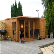 10ft x 8ft Deluxe Tongue and Groove Pent Summerhouse & Shed with 12mm Tongue Groove and Floor