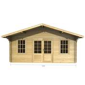 Premier 16ft X 10ft (5m X 3m) Meribel Log Cabin - Double Glazing - 34mm Wall Thickness