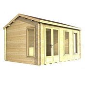 Premier 12ft X 12ft (3.5m X 3.5m) Kaprun Log Cabin - Double Glazing - 34mm Wall Thickness