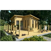 Premier 13ft X 13ft (4m X 4m) Espace Log Cabin - Double Glazing - 34mm Wall Thickness