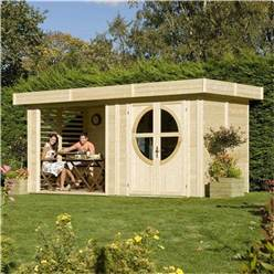 4.8m x 2.4m Connor Unpainted Nantwich Log Cabin (19mm Tongue & Groove)
