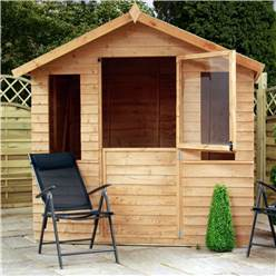 7 x 5 Overlap Summerhouse with Stable Doors and 10mm Solid OSB Floor