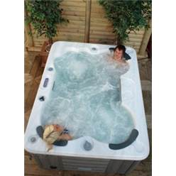 Halifax - 4 Person Hot Tub - 2.13m x 1.60m - Free Delivery and Install + Chemical Kit worth £120 (Requires 230 V/20 Amp RCD breaker - Not Included)