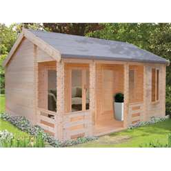 5.49m x 5.95m SHERWOOD LOG CABIN - 70MM TONGUE AND GROOVE LOGS
