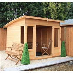 8 x 8 Deluxe Tongue and Groove Summerhouse with 12mm Tongue and Groove Floor (Plywood Roof)