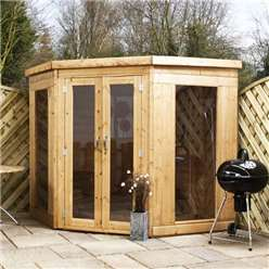 7 x 7 Deluxe Corner Summerhouse with Tongue and Groove Floor & Roof
