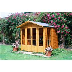 7 x 7 Superior Summerhouse + Fully Glazed Doors (12mm Tongue and Groove Floor)
