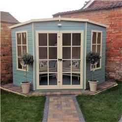 8 x 8 Superior Corner Summerhouse (12mm Tongue and Groove Floor)