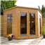8ft x 8ft Deluxe Tongue and Groove Corner Summerhouse with solid OSB Floor