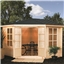 11ft x 11ft Nantwich Corner Kestrel Chalet Log Cabin