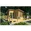 Deluxe 13ft x 13ft (4m x 4m) Pent Style Log Cabin - Double Glazing - 34mm Wall Thickness (2054)