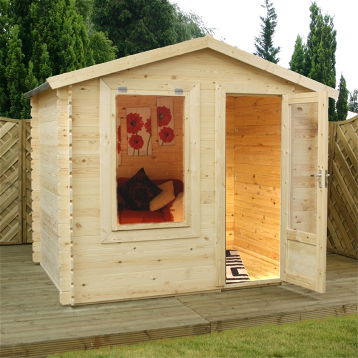 Superb img of Cabins : 2.50m x 2.00m Value Log Cabin   Free Floor & Felt & Safety  with #BD740E color and 1200x1200 pixels