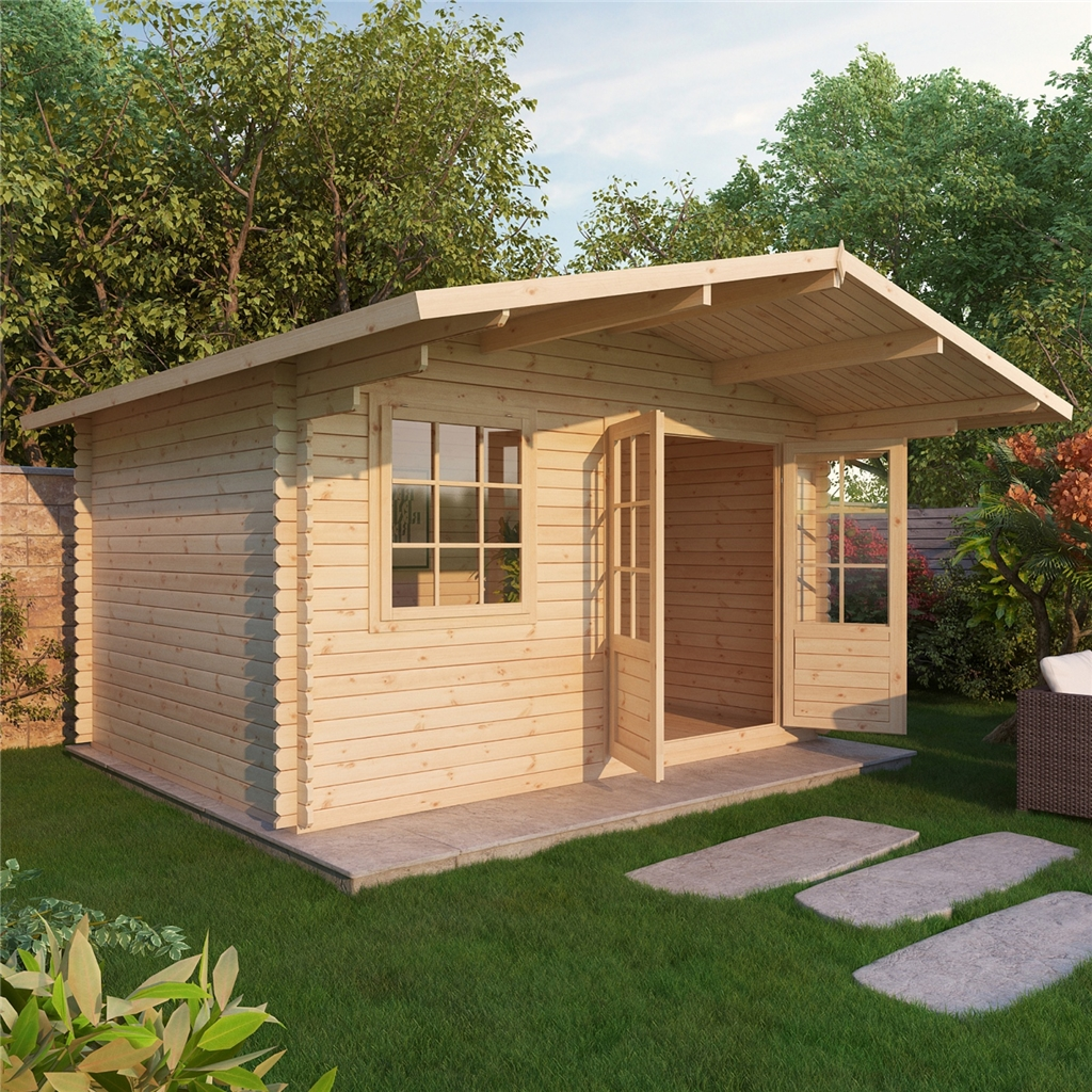 Superb img of 4m x 3m Deluxe Log Cabin 34mm with #C77904 color and 1024x1024 pixels