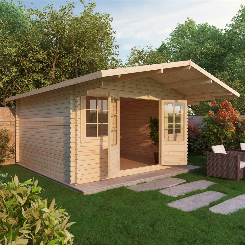 5m X 5m Deluxe Apex Log Cabin 34mm. Full resolution  pic, nominally Width 1024 Height 1024 pixels, pic with #9D6D2E.