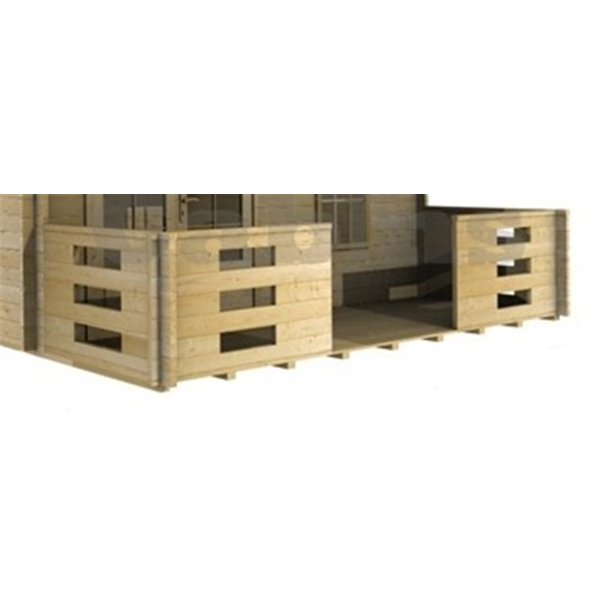 Accessories : Verandah For 4m X 5m (4m X 1.5m) 44mm Log Cabin. Full resolution  snapshot, nominally Width 1200 Height 1200 pixels, snapshot with #957536.