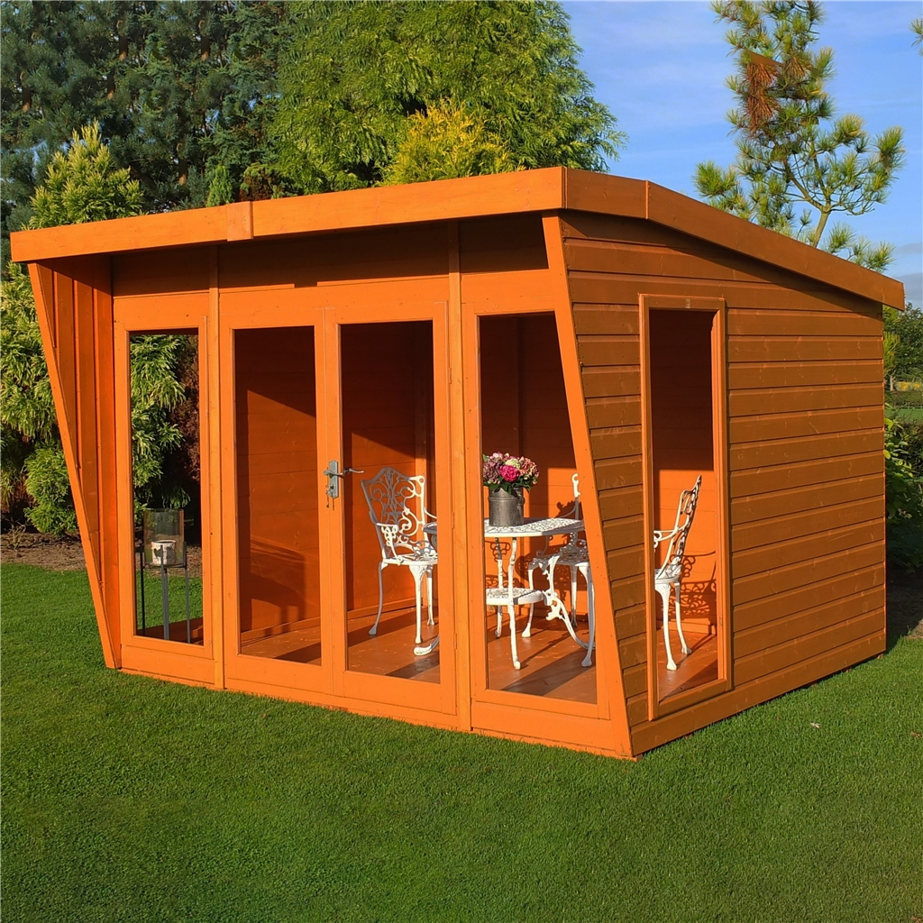 10 x 10 superior pent summerhouse 12mm for Garden designs with summer houses