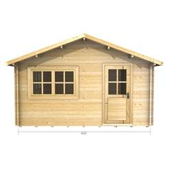 4m x 5m Deluxe Apex Log Cabin - Double Glazing - 70mm Wall Thickness (2068)