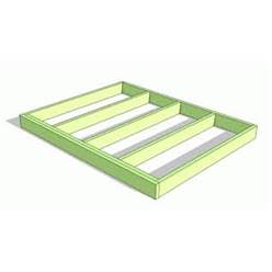 Pressure Treated  Wooden Base Frame + Damp Proof Roll - Less Than 4m