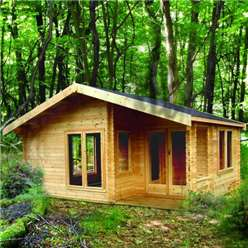 5.9m x 3.85m NEW FOREST APEX LOG CABIN - 44MM TONGUE AND GROOVE LOGS