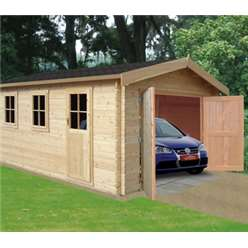 3.8m x 5.39m BRADENHAM LOG CABIN - 44MM TONGUE AND GROOVE LOG