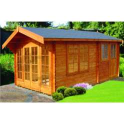4.49m x 4.49m DRUMMOND LOG CABIN - 34MM TONGUE AND GROOVE LOGS