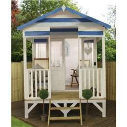 8 x 10 Beach Hut Summerhouse (12mm Tongue and Groove Floor + Roof)