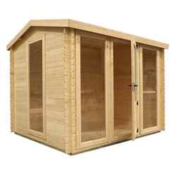 3m x 2.5m Value Log Cabin + Free Floor & Felt & Safety Glass (19mm Tongue and Groove)