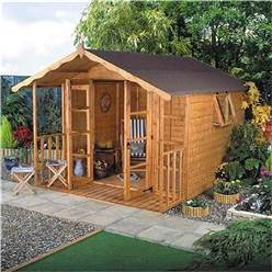 10 x 8 Deluxe Tongue and Groove Summerhouse with 12mm Tongue and Groove Floor and Roof