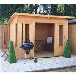10 x 8 Deluxe Tongue and Groove Summerhouse with 12mm Tongue and Groove Floor (Plywood Roof)