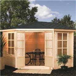 11 x 11 Nantwich Corner Kestrel Chalet Log Cabin