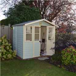 7 x 5 Superior Summerhouse + Half Glazed Doors (12mm Tongue and Groove Floor)