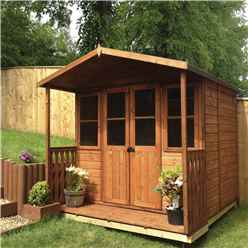 7 x 7 Superior Summerhouse + Half Glazed Doors with Verendah (12mm Tongue and Groove Floor)