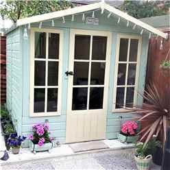 7 x 7 Superior Summerhouse + Fully Glazed Doors (12mm Tongue and Groove Floor + Roof)