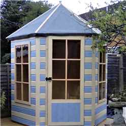 6 x 7 Superior Hexagonal Summerhouse (12mm Tongue and Groove Floor)
