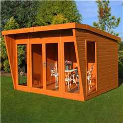 10 x 8 Superior Pent Summerhouse (12mm Tongue & Groove Floor)
