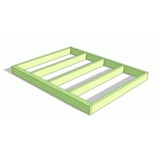 Pressure Treated  Wooden Base Frame + Damp Proof Roll - Less Than 8m