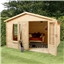 3.29m x 2.98m Value Log Cabin (19mm Tongue and Groove) + Free Floor & Felt & Safety Glass Single Glazed